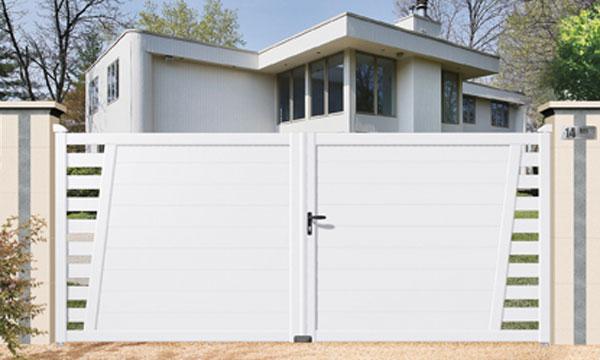 Portail pvc alsace for Brico cash porte de garage