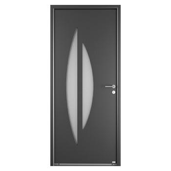 Porte d'entrée en aluminium Alsace